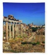 Temple Of Saturn Fleece Blanket