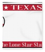 Texas State License Plate Fleece Blanket