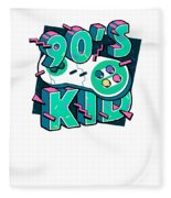 The 90s Gaming Born In The 90s Old Time Gaming Fleece Blanket