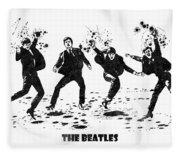 The Beatles Black And White Watercolor 01 Fleece Blanket