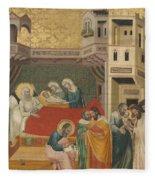 The Birth, Naming, And Circumcision Of Saint John The Baptist Fleece Blanket
