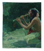 The Call Of The Flute Fleece Blanket