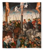 The Crucifixion Fleece Blanket