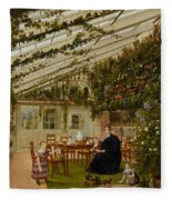 The Family Of Mr  Westfal In The Conservatory  Fleece Blanket