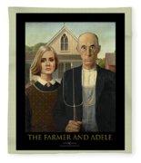 The Farmer And Adele Fleece Blanket