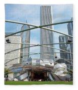 The Great Lawn, Trellis, Bandshell And Jay Pritzker Pavilion, Mi Fleece Blanket
