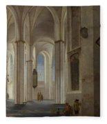 The Interior Of The Buurkerk At Utrecht  Fleece Blanket