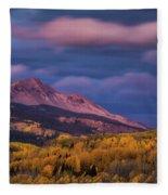 The Whisper Of Clouds Fleece Blanket by John De Bord