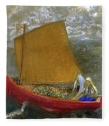 The Yellow Sail, 1905 Fleece Blanket