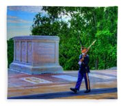 Tomb Of The Unknown Soldier Painting Fleece Blanket