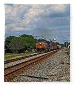 Train In Motion Fleece Blanket