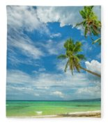 Tropical Beach, Siquijor Island Fleece Blanket