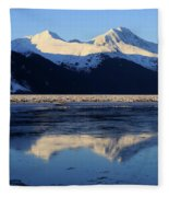 Turnagain Arm And Kenai Mountains Alaska Fleece Blanket