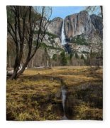 Upper And Lower Yosemite Falls Fleece Blanket