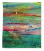Vintage Sunset Fleece Blanket
