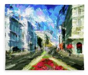 Vienna Austria Fleece Blanket