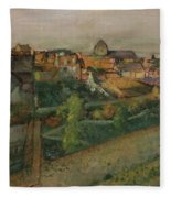 View Of Saint Valery Sur Somme  Fleece Blanket