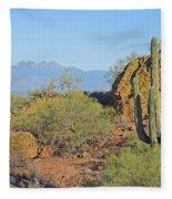View To Four Peaks  Fleece Blanket