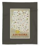 Vintage Travel Poster - Arizona Fleece Blanket