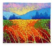 Violet Hills  Fleece Blanket