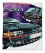 Volvo 480 Turbo Fleece Blanket
