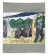 warriors of Bwindi Impenetrable  Fleece Blanket