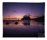 Washington Coast Last Light Fleece Blanket