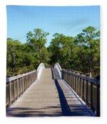 Western Lake Bridge Fleece Blanket