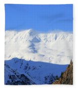 Wind Blows Over The Kenai Mountains Alaska Fleece Blanket