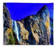 Winter Bridalveil Falls Fleece Blanket