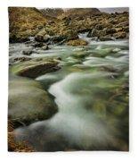 Winter River Rapids Fleece Blanket