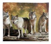 Wolf Pack Fleece Blanket