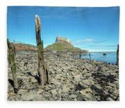 Holy Island Of Lindisfarne - England Fleece Blanket