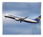 Ryanair Boeing 737-8as Fleece Blanket