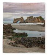 Wharariki Beach - New Zealand Fleece Blanket
