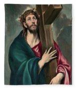 Christ Carrying The Cross  Fleece Blanket