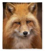 Russian Red Fox Fleece Blanket