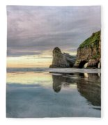 Wharariki Beach - New Zealand Fleece Blanket