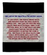 Murphy's Law Of Nature Fleece Blanket