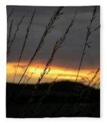 Photograph Of A Sunset Fleece Blanket