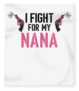 Breast Cancer Awareness Art For Warrior Women Light Fleece Blanket