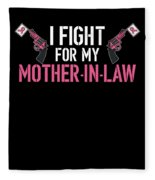 Breast Cancer Awareness Art For Warrior Women Dark Fleece Blanket