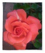Orange Rose Fleece Blanket