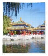 Beautiful Beihai Park, Beijing, China Photograph Fleece Blanket