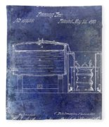 1870 Beer Preserving Patent Blue Fleece Blanket