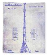 1871 Fire Hose Elevator Patent Blueprint  Fleece Blanket