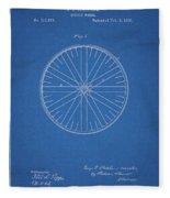 1885 Bicycle Wheel Patent Fleece Blanket