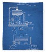 1885 Furnace Patent Fleece Blanket