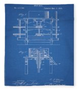 1885 Grist Mill Patent Fleece Blanket