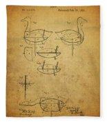 1885 Hunting Decoy Patent Fleece Blanket